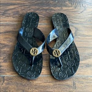 Tory Burch Sandals Thora Black Jelly